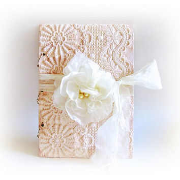Lace Guest Book Personalized Wedding Guest Book Wishes Book Wedding Album Signature Book Wooden Vow Shabby Wedding Guest Book