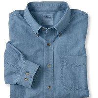 Easy-Care Chambray Sport Shirt, Traditional Fit: Traditional Fit | Free Shipping at L.L.Bean