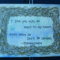 Wedding Gifts for Couples  Shakespeare by ThreeSummerDaysShop