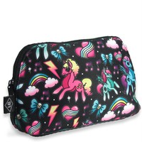 Liquorbrand Colorful Kawaii Unicorns Pony Rainbows Tattoo Art Cosmetic Bag Pouch