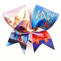 Lion King Cheer Bow - 3 Inch Texas Sized - Cheer Party - Theme Practice - Birthday Gift