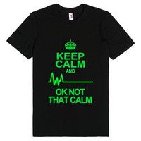 Keep Calm-Unisex Black T-Shirt