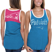 New England Patriots Womens Penelope Tank Top – Teal/Pink
