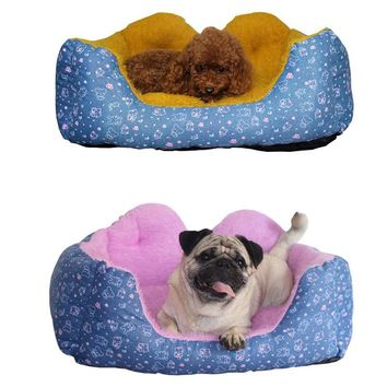 Goods for Pets Dog Bed Super Cute Cat Bed Winter Warm Removable and Washable Cotton Dog Pet Products Dog Bed Soft Comfortable