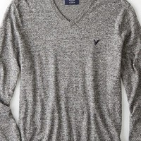 AEO 's Iconic V-neck Sweater (Salt And Pepper)