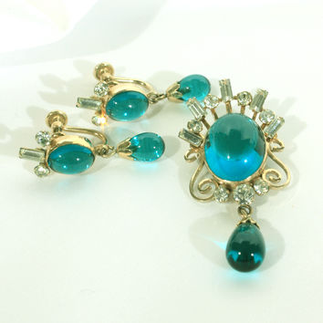 Van Dell Gold Fill Aqua Jewelry Set