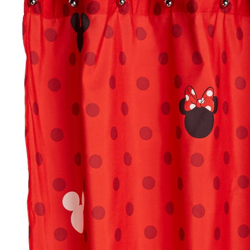"Disney Mickey and Minnie 70"" x 72"" Fabric Shower Curtain Mickey & Minnie"