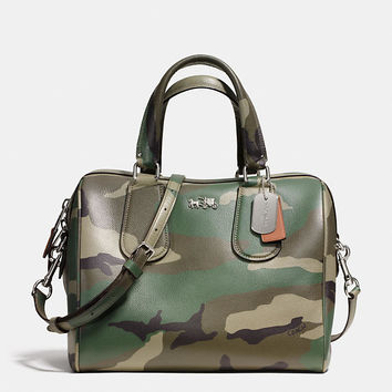 SURREYsatchelin camo print crossgrain leather