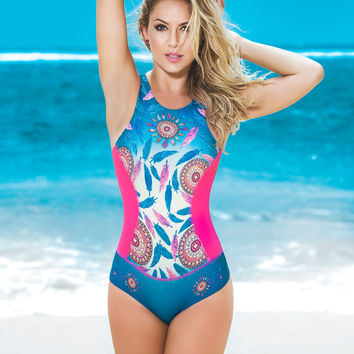 Sexy One Piece With High Cut Rear-Colombian Swimwear