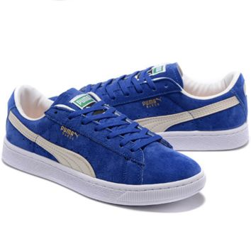 PUMA Pigeon Women Men Casual Running Sport Shoes Sneakers Blue