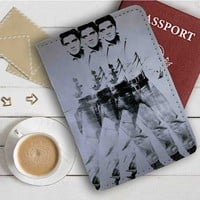 Elvis Presley Andy Warhol Leather Passport Wallet Case Cover