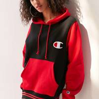 Champion Mini Logo Colorblock Hoodie Sweatshirt - Urban Outfitters