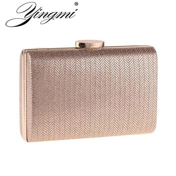 YINGMI Fashion Women Clutch Bags Chain Shoulder Small Day Clutch Gold/silver/black/red Color Party Wedding Handbags Evening Bag