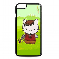 Cute Daryl Dixon Hello Kitty The Walking Dead For iphone 6 plus case