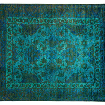 "9'10""x8'3"" Handmade Vibrance Rug, Gold, Area Rugs"