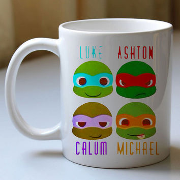 Tenage Mutant Ninja Turtles 5 Second of Summer - Mug, Ceramic Mug, Coffee Mug