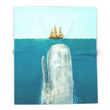 Society6 The Whale Blanket