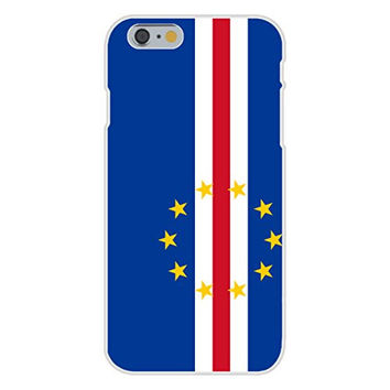 Apple iPhone 6 Custom Case White Plastic Snap On - Cape Verde - World Country National Flags