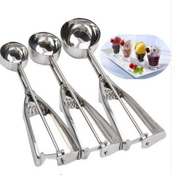 Stainless Steel Mold Ice Cream Scoop Spoon Tool Sets