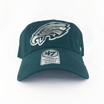 Sale - Philadelphia Eagles Sparkle '47 Brand Adjustable Cap + Sequined Logo
