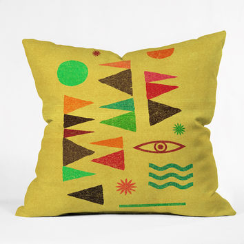 Nick Nelson Tangential Spectrum Throw Pillow