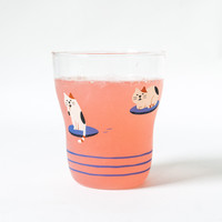 Concombre Flying Calico Cat Glass