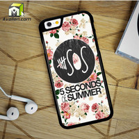 5Sos Floral Fitted iPhone 6 Plus Case by Avallen