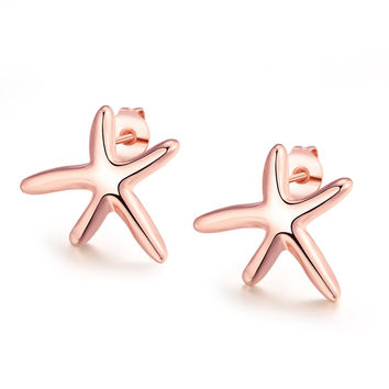 Star 18k Rose Gold Plated Earring