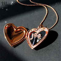 Magic Ikery Photo memory floating locket Heart Pocket Watch Pendants for Fashion Necklaces  Gold Plated Jewelry for Women  A1001