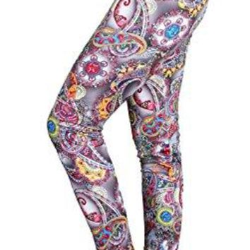 IRELIA Winter Womens Warm Printed Fleece Lined Leggings High Waist Tights  Regular and Plus Size