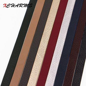 XCHARMS 10mm Flat PU Leather Cord & Rope Diy Jewelry Findings Accessories Fashion Jewelry Making Materials
