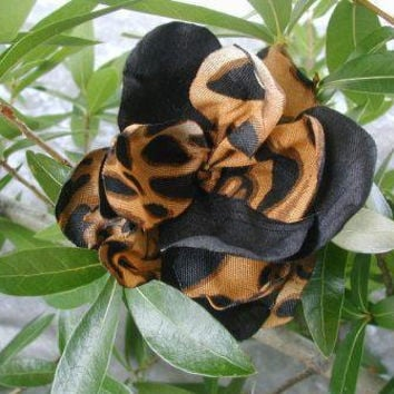 Flower , leopard flower, hair flower, flower pin