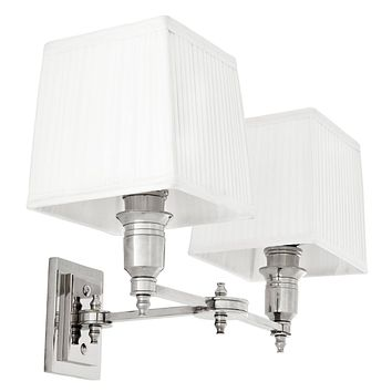 Double Silver Swing Wall Lamp | Eichholtz Lexington