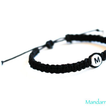 Custom Initial Hemp Bracelet, Fully Personalized, Couples Gift, His Hers, Relationship, Wedding Gift, Anniversary