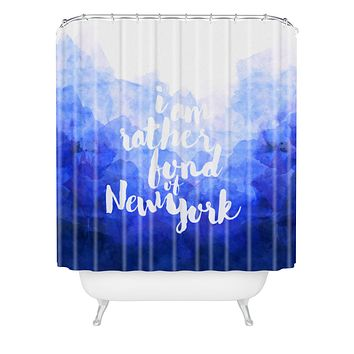 Hello Sayang I Am Rather Fond of New York Shower Curtain