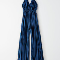 Don't Ask Why Side Slit Jumpsuit, Navy