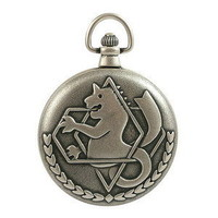 #500MODEL OFFICIAL FULLMETAL ALCHEMIST POCKET WATCH CITIZEN MOV'T MADE IN KOREA