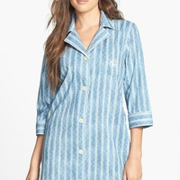 Lauren Ralph Lauren | Lauren Ralph Lauren Three-Quarter Sleeve Cotton Lawn Sleep Shirt | Nordstrom Rack