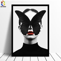 Nordic Decoration Butterfly Posters And Prints Girl Canvas Painting Wall Art Canvas Prints Poster Wall Pictures for Living Room