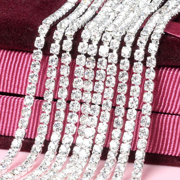 Crystal Sew Metal Claw Sewing Rhinestone Cup Chains Claw ChainsTrimming for DIY Garment Accessories 1Y49462