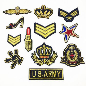 1 PCS Military Patches Cloth Stickers for Clothes  Decoration Parches Bordados Patch for Clothing Iron