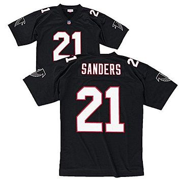 Atlanta Falcons Deion Sanders Premier Throwback Mitchell Ness Replica Black Jersey