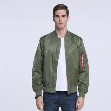 Ma1 Thin Style Army Green Military Motorcycle Ma 1 Flight Jacket Pilot Air Force Men /women Bomber Jacket - Ready Stock