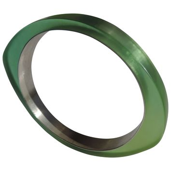 PLASTIC Chic Oh Bangle! Fine Silver and Resin