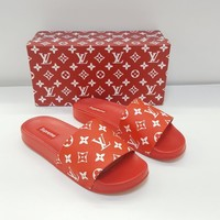 ABKUYOU Supreme Red Slippers