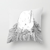 The White Whale Throw Pillow by Huebucket