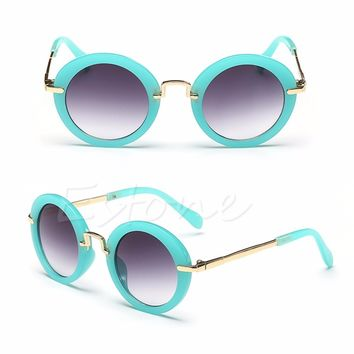 1PC Sunglasses Stylish Baby Goggles Children Child Kids Boys Girls Retro Anti-UV400 Sunglasses