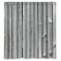 Vintage Rustic Old Barn Wood Custom Shower Curtain 66x72