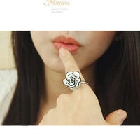 Jewelry New Arrival Gift Shiny Korean Classics Floral Simple Design Stylish White Ring [6586343367]