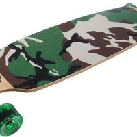 Camo Drop Through Thru Complete Longboard Skateboard